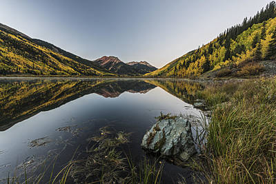 Fall Mirror Poster by Jon Glaser