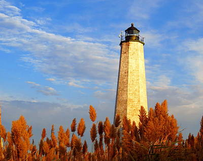 Fall Morning At Lighthouse Point Poster by Stephen Melcher