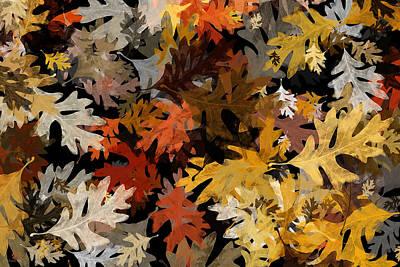 Oak Leaf Patern Poster