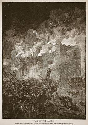 Fall Of The Alamo, From A Book Pub. 1896 Poster