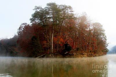 Fall On Melton Hill Lake Poster by Douglas Stucky