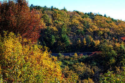 Poster featuring the photograph Fall On The Blue Ridge Parkway by Cathy Shiflett