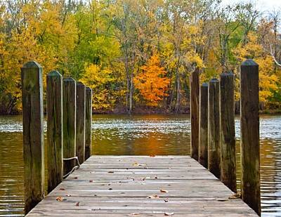 Fall On The Dock Poster