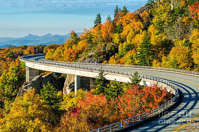 Fall On The Parkway Poster by Anthony Heflin