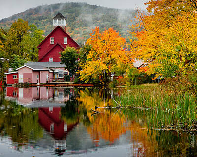 Fall Reflections Poster by Carl Jacobs