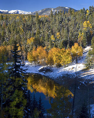 Fall Reflections On Bobcat Pass Poster