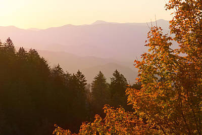 Fall Smoky Mountains Poster by Melinda Fawver