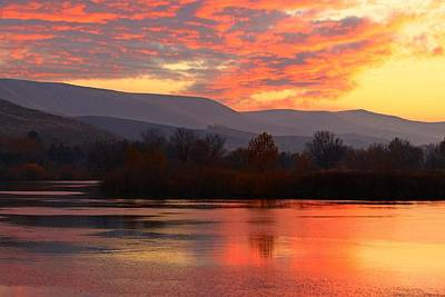 Poster featuring the photograph Fall Sunset by Lynn Hopwood