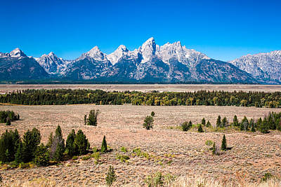 Poster featuring the photograph Fall Tetons   by Lars Lentz