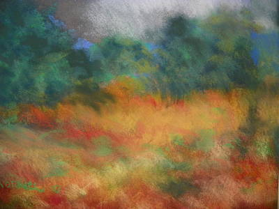 Fall Tonal Landscape Poster by Shirley Moravec