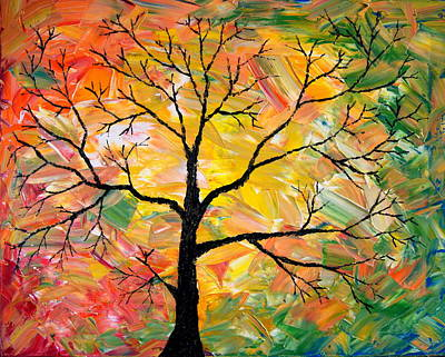 Fall Tree Poster by Cevin Cox