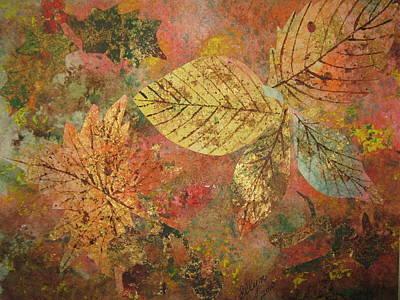 Fallen Leaves II Poster by Ellen Levinson