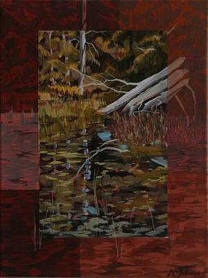 Fallen Trees At The Marsh Poster by David Gilmore
