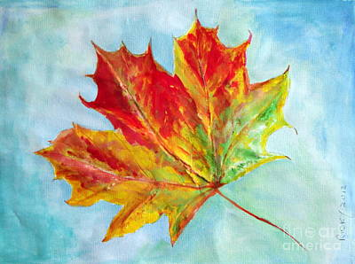 Falling Leaf - Painting Poster