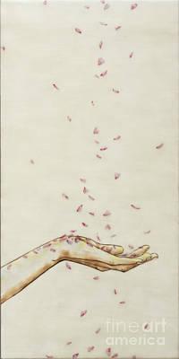 Falling Pink Poster