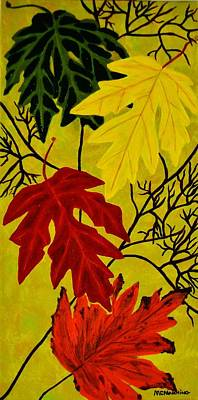 Fall's Gift Of Color Poster by Celeste Manning