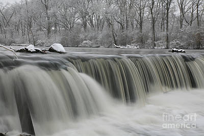 Falls In Winter Poster by Timothy Johnson