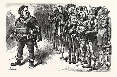 Falstaff Hancock His Ragged Regiment. Falstaff Poster by American School