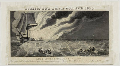 Fame East Indiaman Sailing Ship Poster by British Library