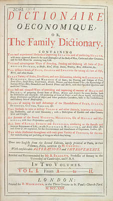 Family Dictionary Poster by British Library