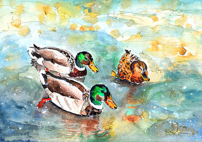 Family Life On Lake Constance Poster by Miki De Goodaboom