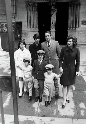Family Portrait Of Eunice Shriver And Family Poster