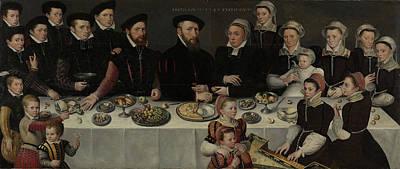 Family Portrait Of Pierre De Moucheron, Merchant Poster
