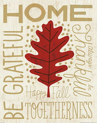 Family Tree Leaf II Poster by Michael Mullan