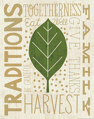 Family Tree Leaf Iv Poster by Michael Mullan