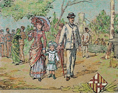 Family Walking Barcelona, Catalonia Poster by Prisma Archivo