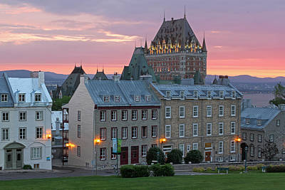 Famous Chateau Frontenac In Quebec City Poster by Juergen Roth