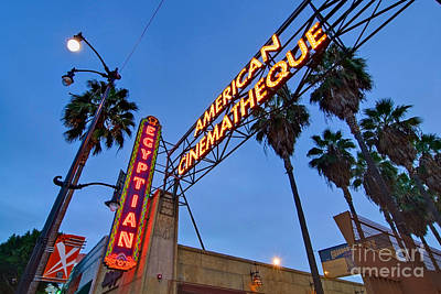 Famous Egyptian Theater In Hollywood California. Poster by Jamie Pham