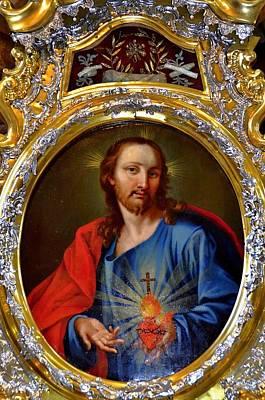 Famous Herz-jesu-bild In Jesuitenkirche In Innsbruck Poster
