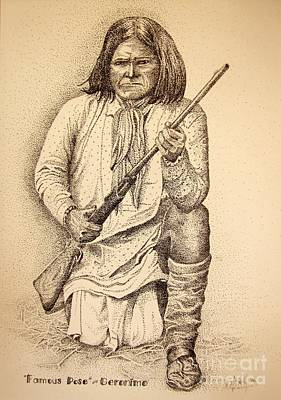 Famous Pose - Geronimo Poster by Marilyn Smith