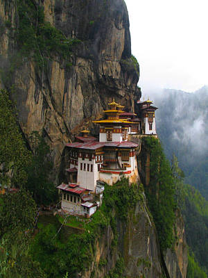 Famous Tigers Nest Monastery Of Bhutan Poster