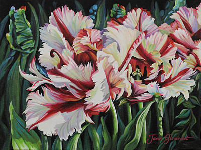 Fancy Parrot Tulips Poster