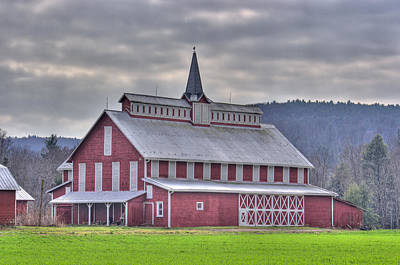 Fancy Red Barn Poster by Shelly Gunderson