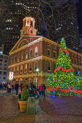 Faneuil Hall Night Poster