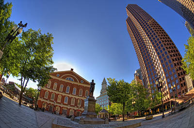 Faneuil Hall Square Poster by Joann Vitali