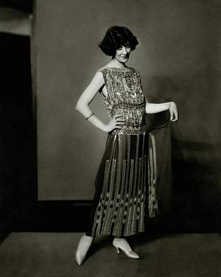 Fanny Brice Wearing A Dress Poster by Edward Steichen