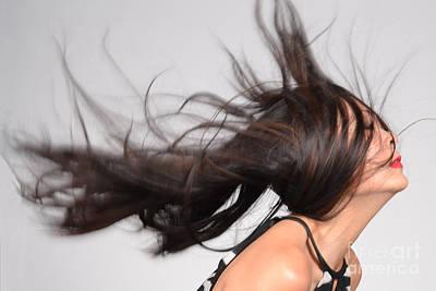 Fantastic Female Asian Hair Model Poster by Heather Kirk