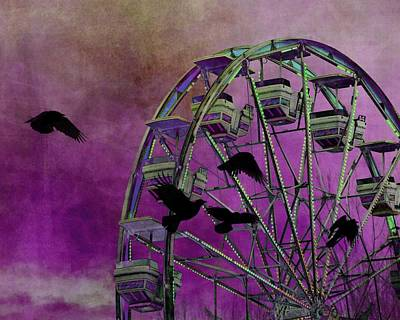 Fantasy Ferris-wheel Poster by Gothicrow Images