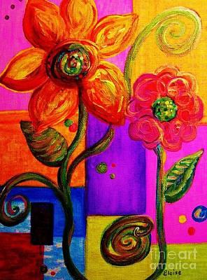 Fantasy Flowers Poster by Eloise Schneider