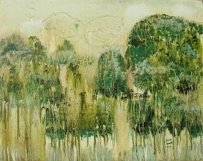 Poster featuring the painting Fantasy Forest by Diane Pape
