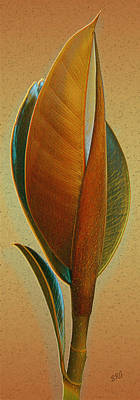Fantasy Leaf Poster