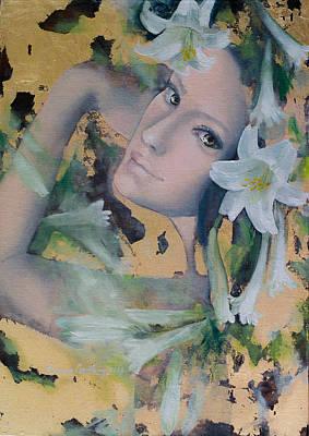 Fantasy Lilies Poster by Dorina  Costras