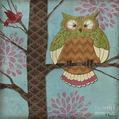 Fantasy Owls I Poster