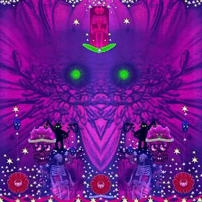 Fantasy Skull Forest Poster