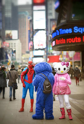 Fantasy Times Square Poster by Vicki Jauron