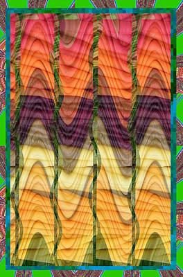 Fantasy Waves Pattern 3d Plateau Art Made Of Vegitable Colors Poster